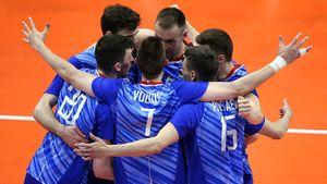 Российские волейболисты начали с разгрома. Французы не успевали за нами и получали мячом по голове