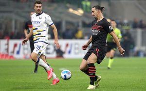 «Милан» вырвал победу у «Вероны», уступая в 2 мяча по ходу встречи, и возглавил турнирную таблицу в Серии А