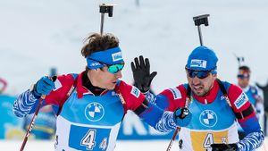 Российские биатлонисты завоевали серебро в эстафете на этапе Кубка мира в Нове-Место