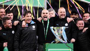 У Гвардиолы — уже 8-й трофей в «Манчестер Сити»! В финале Кубка лиги с «Виллой» было жарко