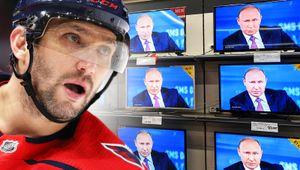 «Если посмотреть новости в Америке, то там: Россия, Путин, Россия, Путин». О чем говорили Овечкин с Канделаки