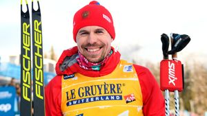 Русский лыжник Устюгов уделал норвежского гения на1-м этапе «Тур деСки». Большунов— сбронзой