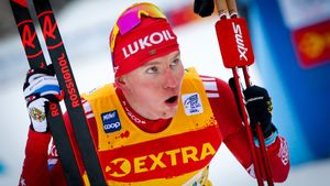 Большунов на финише уступил Клэбо, сборная России довольствовалась серебром в эстафете. Как это было