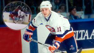 Уложил американца эффектным приемом. Хит российского хоккеиста Каспарайтиса на Хэтчере из 1993-го: видео