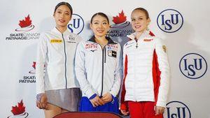 Трусова руководила фотосессией на подиуме, японцы чуть не снесли Ханю. Веселые моменты Skate Canada