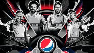 Новая топовая реклама Pepsi сфутболистами: теперь забанкой гоняются Месси, Салах, Погба иСтерлинг