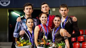 Мишина и Галлямов взяли золото на первом же взрослом этапе Гран-при. Они — надежда России в парах