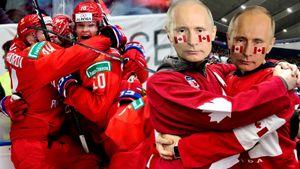 Канадцы наряжались вПутина иупивались пивом, русские просто ликовали. Фото главной зарубы МЧМ