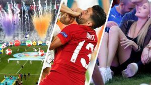 Турки получали по лицу, красавица-болельщица мерзла на земле в фан-зоне. Главные фото матча-открытия Евро
