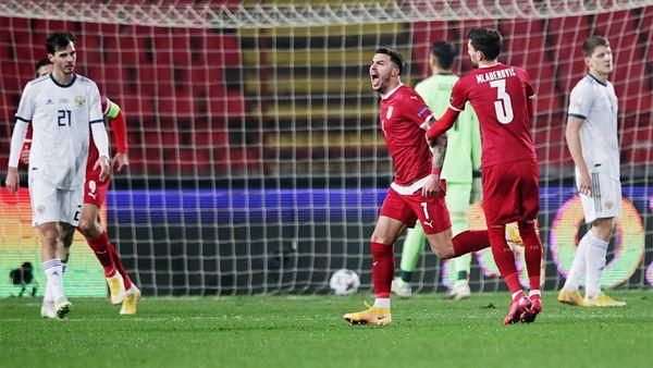 Сербия разгромила Россию в Белграде. Сборная Черчесова впервые пропустила 5 голов в Лиге наций. Как это было