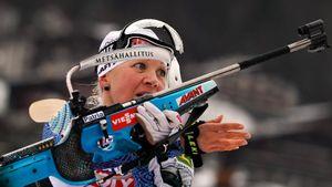 Позор русских биатлонисток вГермании— 2 последних места. Мякяряйнен выиграла, отметив 37-й ДР
