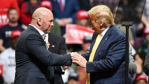 «Он боец, он любит эту страну». Босс UFC Дэйна Уайт поддерживает Дональда Трампа