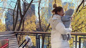 Экс-баскетболистка Кейру впервые показала лицо ребенка отфутболиста Новосельцева