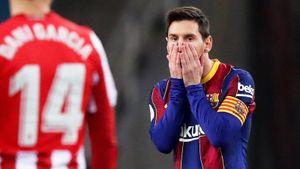 Месси заработал первую красную карточку в «Барселоне» за 753 матча