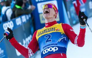 Большунов выиграл скиатлон на чемпионате мира
