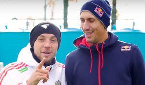 Дзюба и чемпион мира по пляжному волейболу Стояновский устроили челлендж на футбольном поле