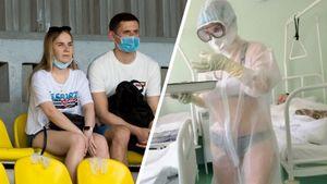 Прославившаяся работой в купальнике медсестра из Тулы поддержала «Арсенал» в матче со «Спартаком»