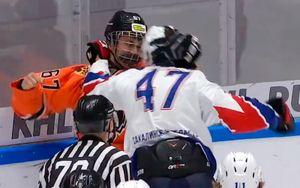 29 драк случилось в матче МХЛ между «Амурскими тиграми» и «Сахалинскими акулами»: видео