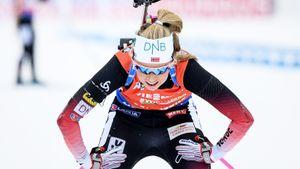 Крутой норвежской биатлонистке стало плохо во время гонки: ее увезли на скорой. У нее болезнь, как у Бьорндалена