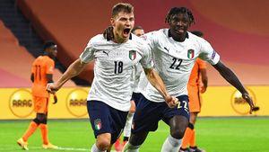 Италия пригвоздила Голландию в топ-матче Лиги наций. Барелла забил, Дзаньоло снова сломался