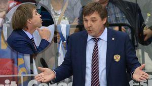 Международный скандал со сборной России. Знарок показал угрожающий жест тренеру шведов и был забанен на финал ЧМ
