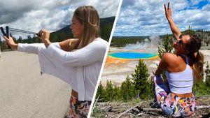 Юлия Ефимова сбила тарелку с дерева выстрелом из рогатки: видео