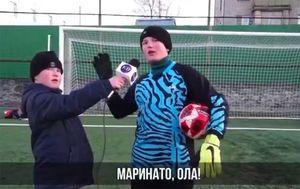 Юный вратарь поиздевался над голкипером сборной России Гилерме, показав ему пару уроков: видео