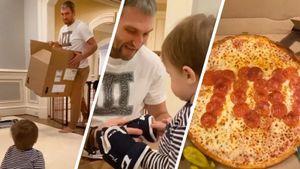 Как Овечкин отметил 700-й гол в НХЛ. Подарил сыну первую хоккейную форму и съел праздничную пиццу