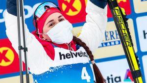 Драматический финиш в финале Тур де Ски. Русской лыжнице было плохо — она едва не ушла с трассы, но взяла серебро