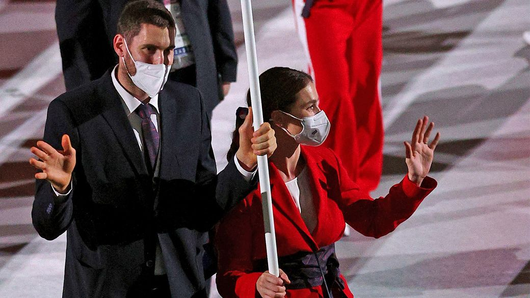 Знаменосец сборной России Михайлов оценил атмосферу на церемонии открытия Олимпийских игр в Токио