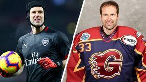 Великий вратарь Чех сменил футбол на хоккей. В детстве его кумиром был Гашек