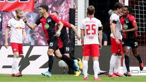 «Лейпциг» совсем сдулся— снова потерял очки иможет пролететь мимо Лиги чемпионов