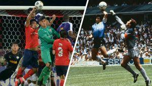 Легендарный гол рукой Марадоны повторили в Малайзии. Адан нарушил правила, но его мяч засчитали: видео