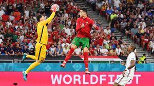 Франция и Португалия сыграли вничью, Бензема и Роналду забили по два гола