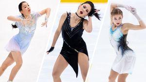 Туктамышева, Косторная, Кихира иЕнделают тройной аксель. Чей прыжок лучше?