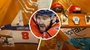 Овечкин показал, что хранится в его домашнем музее в Москве. Уникальную коллекцию собирал отец русской звезды НХЛ