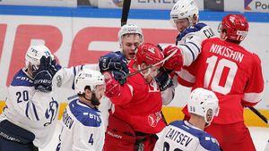 «Спартак» и«Динамо» устроили массовую драку после финальной сирены: видео