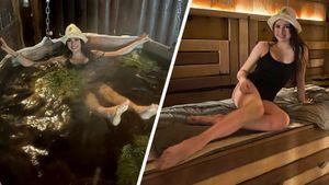 Загитова сфоткалась в купальнике, кайфанула в бане, нырнула в бассейн на морозе. Прокомментировал даже Глушаков