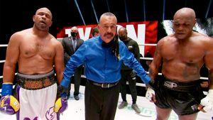 Бой легенд бокса закончился ничьей. Тайсон был недоволен, а Рой Джонс поблагодарил россиян