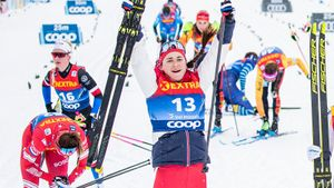 Русская лыжница Ступак впервые победила на Тур де Ски, отыграв 26 сек у лидера. Ее сыну сегодня исполнился 1 год