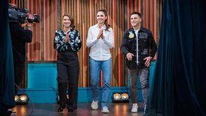 Герои Олимпиады Нагорный, Бацарашкина и Позднякова сходили на шоу к Урганту. Как это было