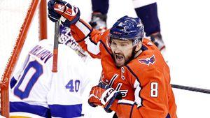 Овечкин вышел на 20-е место по голам в плей-офф НХЛ