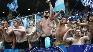 «Зенит» оштрафован на 200 тысяч рублей за свастику и кельтский крест на трибуне