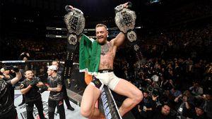 UFC вспоминает победу Конора над Альваресом, вписавшую ирландца в историю. Дальше были бокс, фото с Путиным и Хабиб