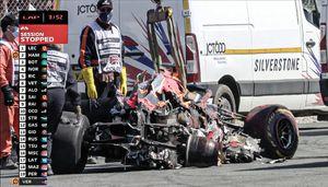 Страшный момент аварии Ферстаппена на огромной скорости на Гран-при Великобритании Формулы-1: видео