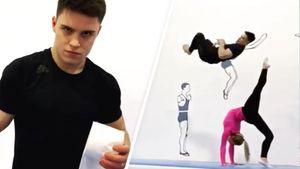 Русские гимнасты исполнили эффектный трюк с туалетной бумагой под хит Little Big: видео