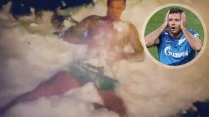 Ловрен лег в снег после бани в 11 градусов мороза: видео