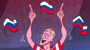 Известный карикатурист изобразил лучшие моменты сборной России на ЧМ-2018