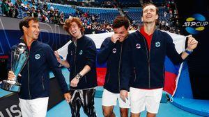 Как Россия с Медведевым и Рублевым стала лучшей теннисной сборной мира: фото