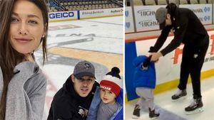 Жена Малкина показала милое видео: русский хоккеист учит ихсына кататься наконьках